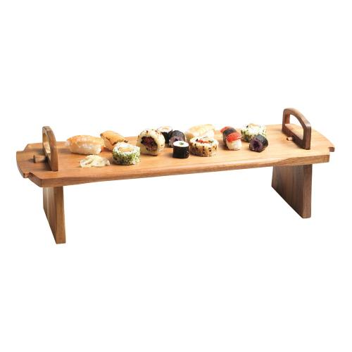 Antipasti platform platter, 52 x 15 x 17cm, Acacia Wood