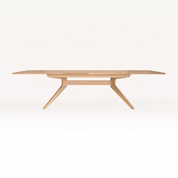 Cross Extending oak dining table, H75 x W200 x D100cm, oak