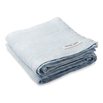 Ipanema Linen beach towel, baby blue