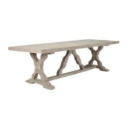 Conisbrough Dining table, L100 x W260 x H75cm, grey wood