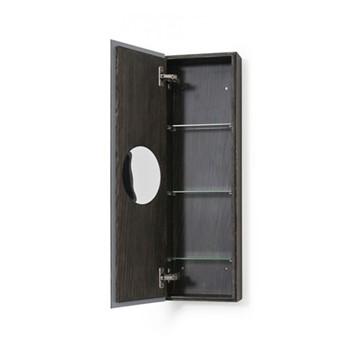 Zone Cabinet, H80 x W25 x D12cm, dark brown