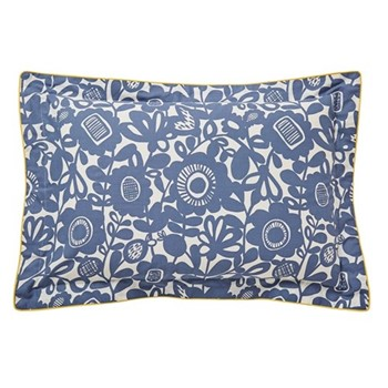 Kukkia Oxford pillowcase, L48 x W74cm, ink and charcoal