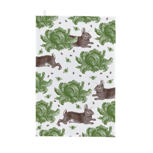 Classic Rabbit & Cabbage Tea towel, 50 x 70cm