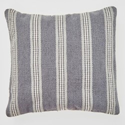 Henley Stripe Cushion, L45 x W45cm, clay