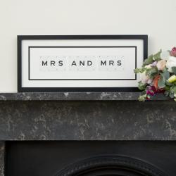 MRS AND MRS Medium frame, 51 x 20cm