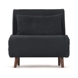 Haru Single sofabed, H78 x W77 x D86cm, sapphire blue