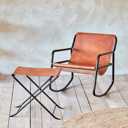 Sagari Rocking chair, H77 x L77 x W59cm, Tan