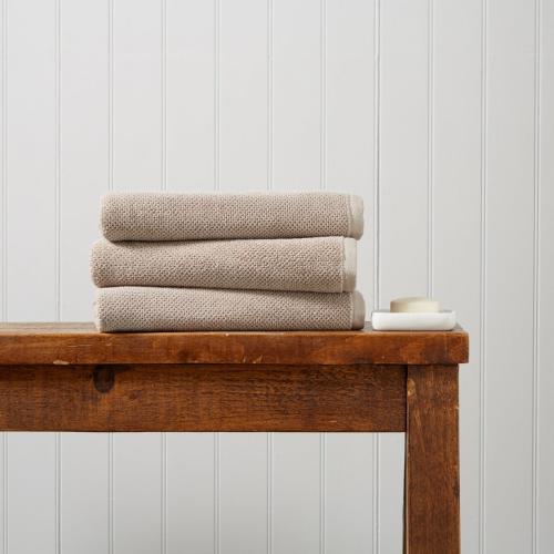 Brixton Pair of bath towels, 70 x 125cm, Pebble