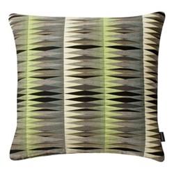 Leon Large square cushion, 56 x 56cm, green