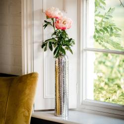 Tulip Medium vase, H50 x W10 x D10cm, Silver