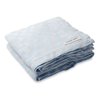 Copacabana Linen beach towel, baby blue