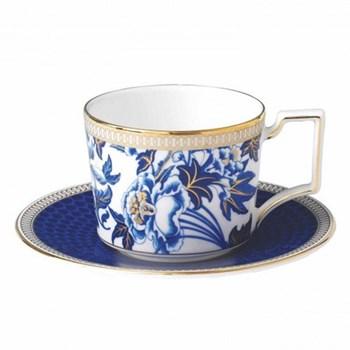 Hibiscus Espresso cup, H5 x W8.5 x D6.5cm, blue