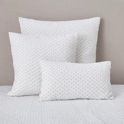 Brittany Square cushion, W50 x L50cm, White/Grey