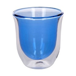 Colour Pair of cappuccino glasses, 300ml, blue