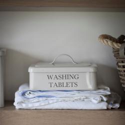 Washing tablet box, H14 x L25 x D19cm, chalk