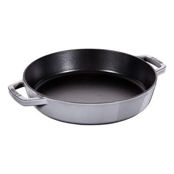 Double handle frying pan, 26cm, graphite grey