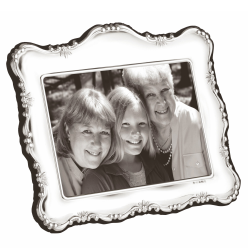 """PDR Series Photograph frame, 4 x 6"""", sterling silver with blue velvet back"""