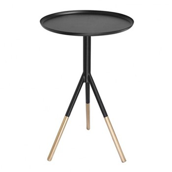 Tripod table, H58cm x Dia37cm, matt black//brass