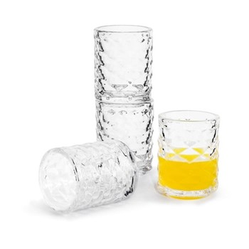 Club Set of 4 shot glasses, Dia3.8 x H6.5cm - 6cl, clear