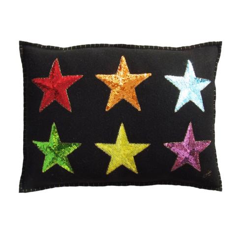 Rainbow Star Cushion, 48 x 35cm, Rainbow