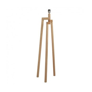 Dylan Wooden floor lamp base, W45 x H134 x D45cm, ash