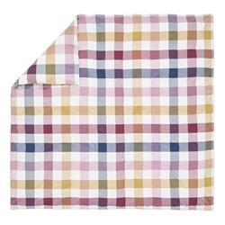 Country Ramble Check Double duvet cover, L200 x W200cm, plum
