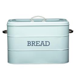 Living Nostalgia Bread bin, 34 x 21.5 x 25cm, blue enamelled steel