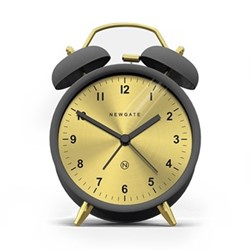 Charlie Bell Alarm clock, H14 x W9.7 x D5.5cm, gravity grey