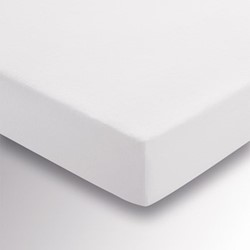 Peacock Double fitted sheet, L190 x W135 x H30cm, white