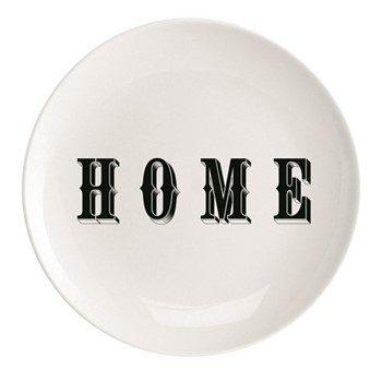 Home Plate, Dia25.5cm, black/white