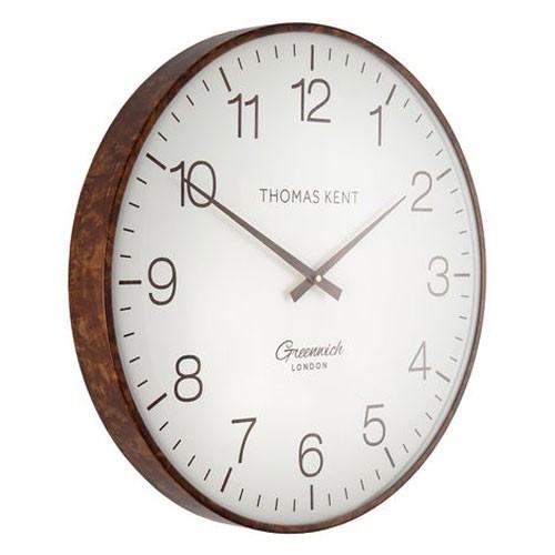 Greenwich club Wall clock, Dia53cm, White/Walnut