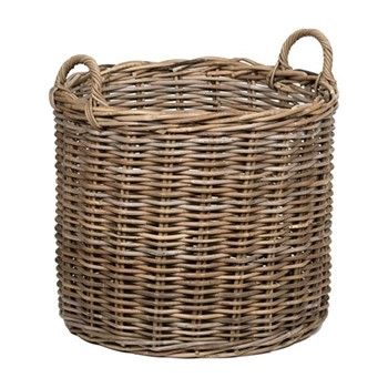 Somerton Medium log basket, D54 x H53cm, walnut