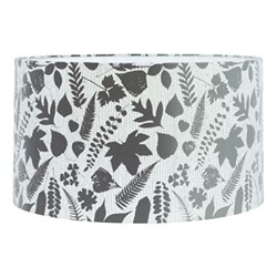 Falling Leaves Extra large drum lampshade, W45 x H25cm, white/grey ombre