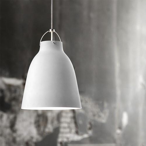 Caravaggio-P2 Pendant lamp, H32.5 x Dia 27.5cm, Matt White