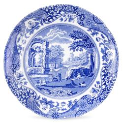 Blue Italian Set of 4 plates, 15cm