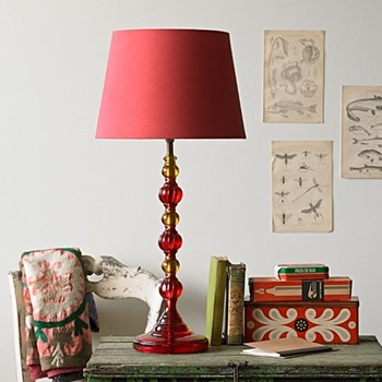 Lucas Table lamp - base only, H42 x W15cm, red and orange