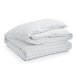 Baxter Double duvet cover, 200 x 200cm, charcoal