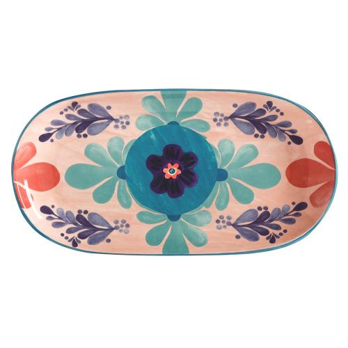 Majolica Majolica Ceramic Oblong Serving Platter Peach Gift Boxed, Multi
