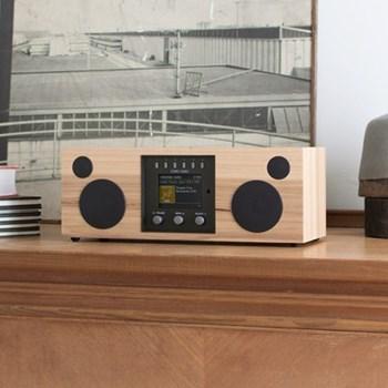 Duetto Smart speaker, L37 x W19 x H14.2cm, hickory black