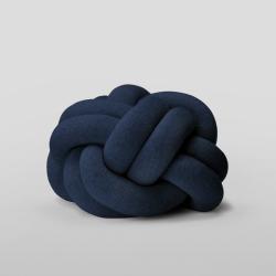 Knot Cushion, 30 x 30 x 15cm, navy