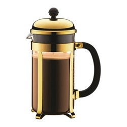 Chambord 8 cup coffee maker, 1 litre, gold