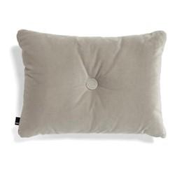 Dot Velvet cushion, W60 x H45cm, beige