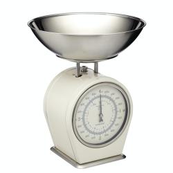 Living Nostalgia Mechanical scales, 4Kg, Cream