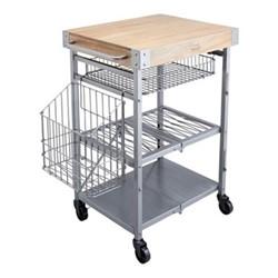 Industrial Kitchen Folding kitchen trolley, 80 x 51 x 90cm