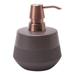 Opaco Soap dispenser, 10.5 x 13.6cm, mauve