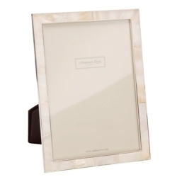 """Mother of Pearl Photograph frame, 4 x 6"""", silver/cream"""