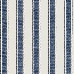 Awning Stripe Woven cotton rug, W183 x L274cm, blue
