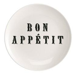 Bon Appetit Plate, Dia25.5cm, black/white