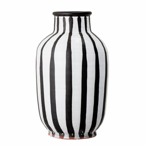 Deco Vase, H44 x D26cm, Black & White
