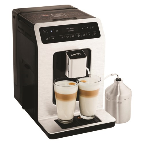 Evidence Connected Smart bean to cup coffee machine - EA893D40, 2-2.5 litre, Black & Silver